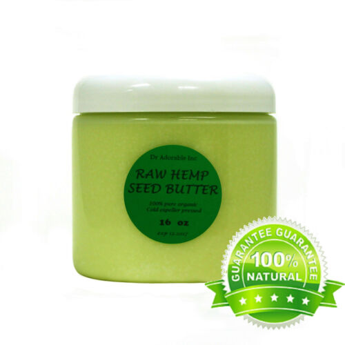 HEMP SEED BUTTER ORGANIC COLD PRESSED 100% PURE