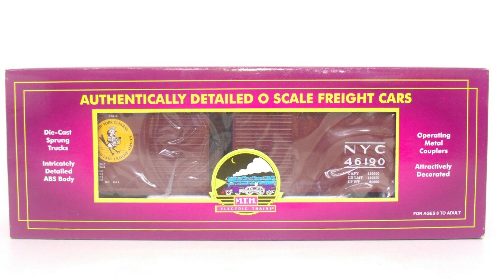 MTH O NYC New York Central 46190 Double Door 50' Train Freight Box Car 20-90017A