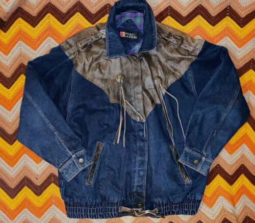 Vintage Womens Western Jean Jacket Andy Johns Size