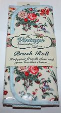 The Vintage Cosmetic Company Floral Makeup Brush Roll Holder **