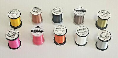 Semperfli Nano Silk 100 Denier Predator 6//0 Colour Selection 7 Gelspun 100D 50 Metre