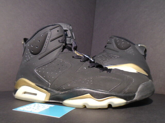 2005 NIKE AIR JORDAN VI 6 RETRO DMP BLACK gold DEFINING MOMENTS 136038-071 11.5