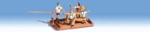 Noch 16828 People on a Raft HO Gauge Figures Set