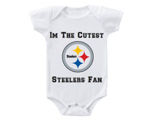 44f905e2d Image is loading Pittsburgh-Steelers-Onesie-Bodysuit-Shirt-Shower-Gift -Cutest-