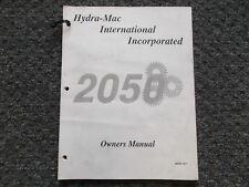 Hydra Mac 2050 Skid Steer Loader Factory Owner Operator User Manual 7000 079
