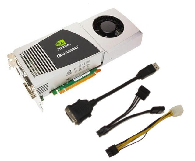 Nvidia Quadro FX5800 DDR3 Video Graphics Card 4GB PCI-E Displayport Dual DVI