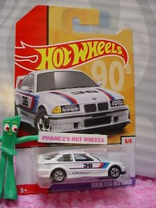 Details About 94 Bmw E36 M3 Race 6 White Bw 90s 2019 Hot Wheels Target Throwback Decades