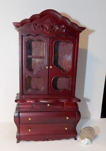 Details About Dollhouse Miniature Fancy Victorian Display Cabinet 1:12 One  Inch Scale D78