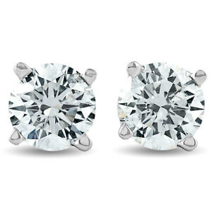 1.10 Ct Diamond Studs 14K White Gold
