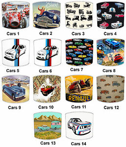 Lampshades-Ideal-To-Match-Vintage-amp-Retro-Cars-Decorative-Quilts-amp-Bedspreads