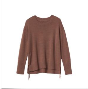 NEW Athleta Nopa Merino Wool Side Ties Sweater Knit Brown S 4 M 8 L 12  NWT