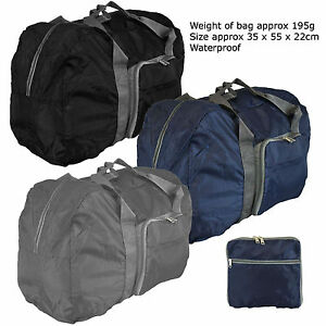 Image Is Loading Large Lightweight Hand Folding Cabin Luggage Flight Bag