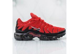 Détails sur Homme Nike Air Max Plus TN Tuned University Rouge Noir 852630 603 afficher le titre d'origine