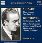 Mozart: Piano Sonatas Nos. 5 & 18; Beethoven: Six Variations Op. 34; Eroica Variations (CD, Sep-2000, Naxos (Distributor))