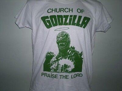 CHURCH OF GODZILLA T-SHIRT, FILM, HORROR TSHIRT, FUNNY, HUMOUR TSHIRT