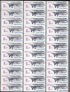 US-1950s-SHEET-OF-33-DOCs-5c-5-LOCAL-POST-CHARLES-LINDBERGH-PLANE