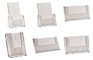 LEAFLET-HOLDER-A4-A5-A6-1-3rd-A4-DL-COUNTER-STAND-WITH-OR-WITHOUT-CARD-HOLDER