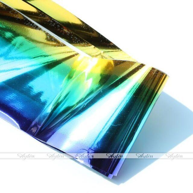 Galaxy Wrap Foil Transfer Acrylic Adhesive Sticker Nail Art Tips Decor Tool Kit