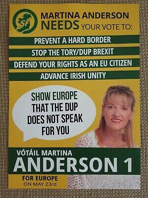 EU 2019 Leaflet//Flyer Sinn Fein Martina Anderson MEP