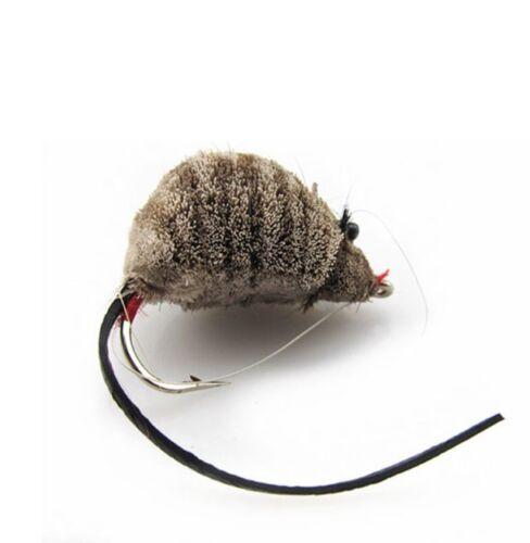 Maus als Streamer mit Krautschutz Fliegenfischen Hecht Forelle Fliegenrolle
