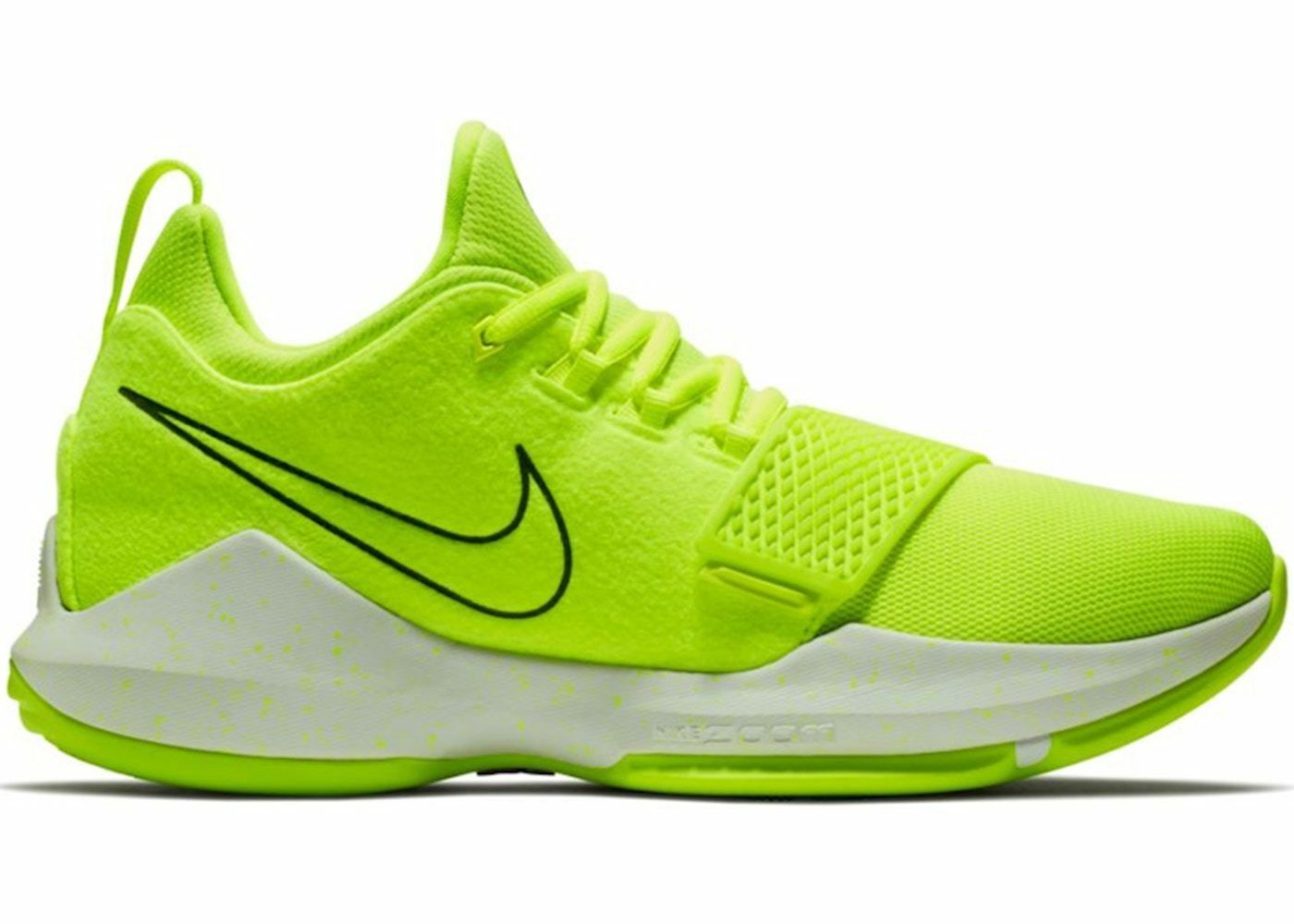 Nike PG 1 Paul George TENNIS BALL Volt NEON Yellow Green White 95 Men 12.5 Shoes Seasonal price cuts, discount benefits