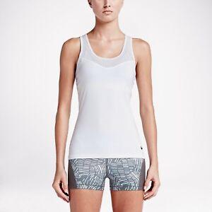 Women's Nike Training Tank Top White Pro Hypercool S & T