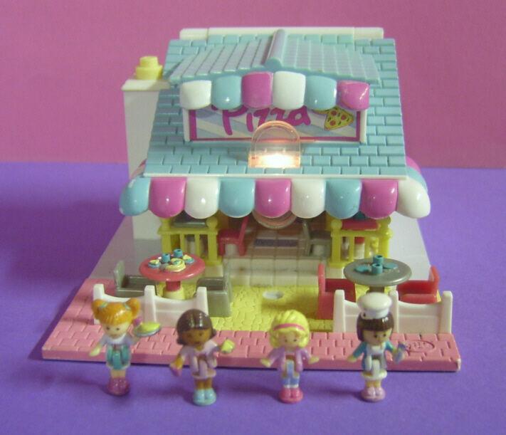 Polly Pocket Mini ♥ Süße Pizzeria Pizzeria Pizzeria ♥ mit Licht + 4 Pollys ♥ Komplett ♥ 1993 ♥ 33c74d