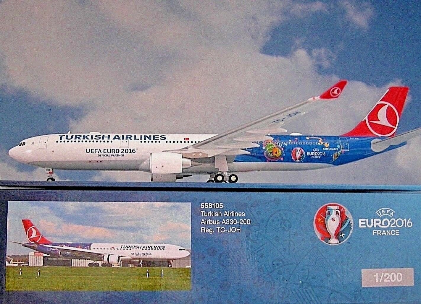 Herpa Wings 1 200 Airbus a330-200 Turkish Airlines TC-JOH em 2016 558105
