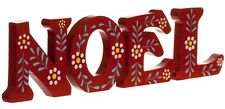NOEL Red Wooden Decorative Festive Letters 22501