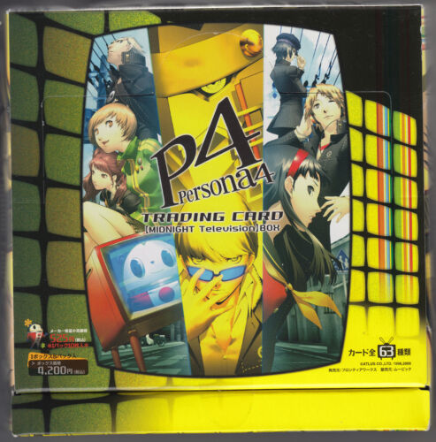 Persona 4 Trading Card Midnight TV Version Sealed Box Frontier Works Japanese