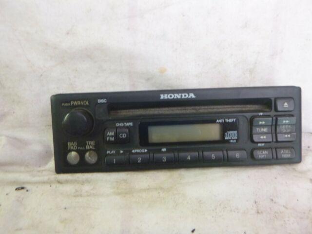99-04 Honda Odyssey Civic Accord Radio Cd Player /& Theft Code 39100-S0X-C020