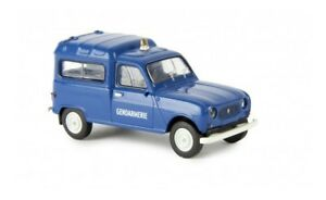14720-Brekina-Renault-R4-Fourgonnette-034-Gendarmerie-034-Gelblicht-F-1-87