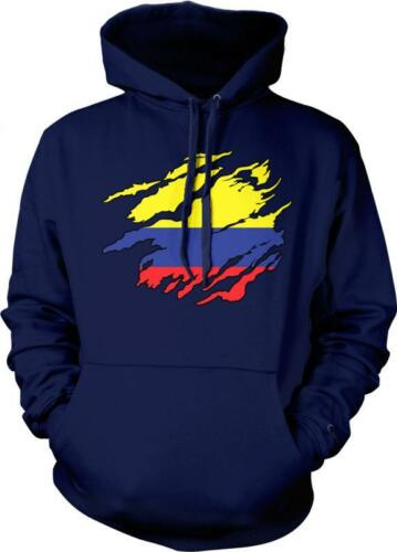 Colombia Shred Flag Colombian Pride Orgullo Bandera Colombiana Hoodie Pullover