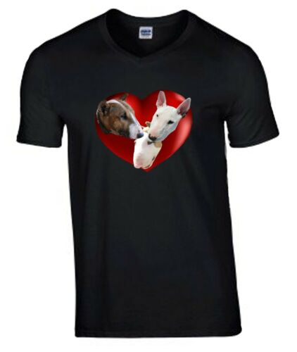 T-shirt V or Crew Neck Birthday Gift English Bull Terriers Tshirt