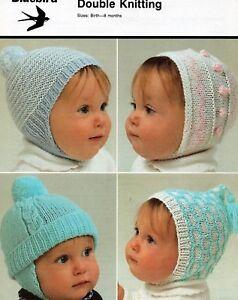 ad6970f14bb 123 Baby Boys   Girls Hats Bonnets DK 0-8mths Vintage Knitting ...