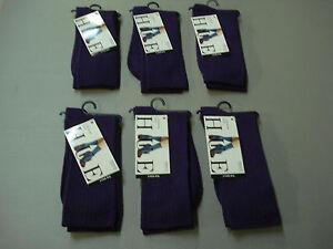 524c0ee4449 NWT Women s Hue Luster Rib Socks One Size 6 Pair Aubergine  784E
