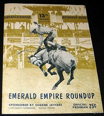 rodeo 1965 program eugene oregon emerald empire roundup bronc brahma bull riding ebay ebay