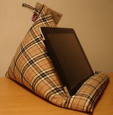 BNWT Mini Bean bag cushion holder stand iPad Tab size LARGE Henley check/plaid