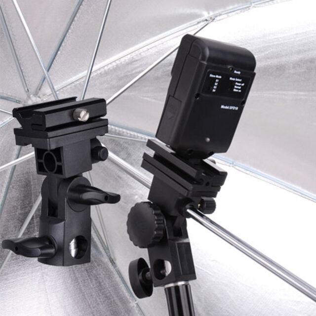 Photo Flash Adapter Hot Shoe Swivel Mount Light Stand Bracket B Umbrella Holder