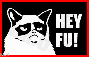 5c84a4a62 GRUMPY CAT VINYL STICKER DECAL FOR CAR & TRUCK WINDOWS jdm meme fu ...