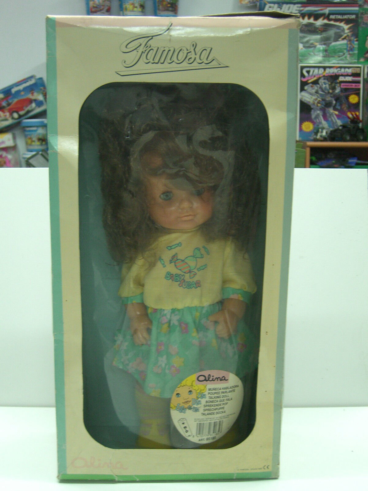 1990 VINTAGE FAMOSA TALKING DOLL OLINA SPAIN 85185 MIB