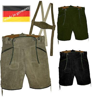 Aus Dem Ausland Importiert Kurze Lederhose + Stegträger Trachtenlederhose Made In Germany Oktoberfest Ideales Geschenk FüR Alle Gelegenheiten