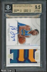 2012-13-National-Treasures-Anthony-Davis-RPA-RC-3-Color-Patch-AUTO-199-BGS-9-5