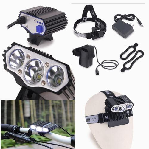 3X CREE XM-L U2 LED Outdoor Bicycle Bike Head Light Lamp 6400MAh Battery TFCFL