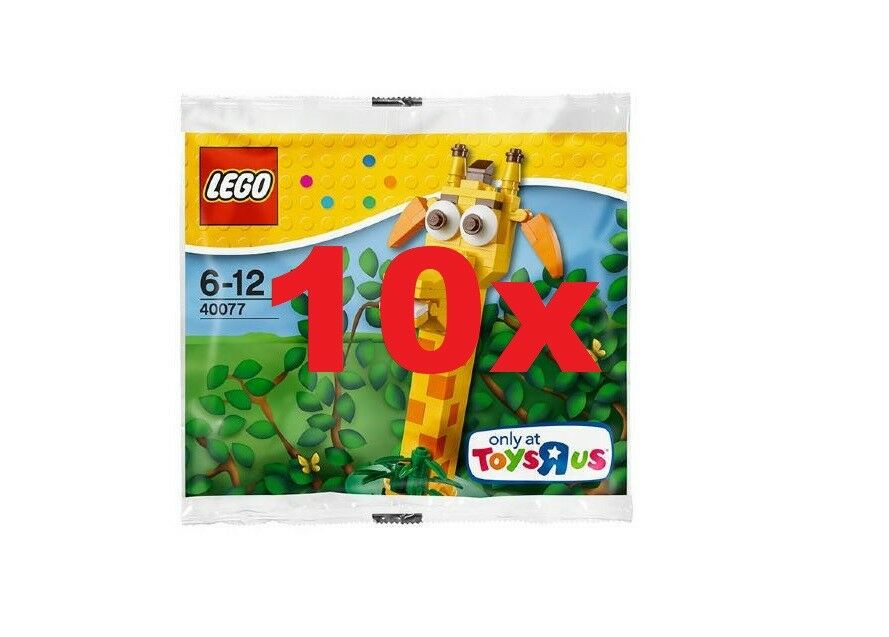 LEGO® 10x 40077 GEOFFREY POLYBAG - TOYS R US EXCLUSIVE - NEW FACTORY SEALED