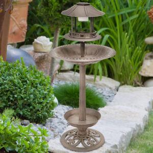 LED Lampe solaire oiseau abreuvoir Bac support EAU COQUILLE ...