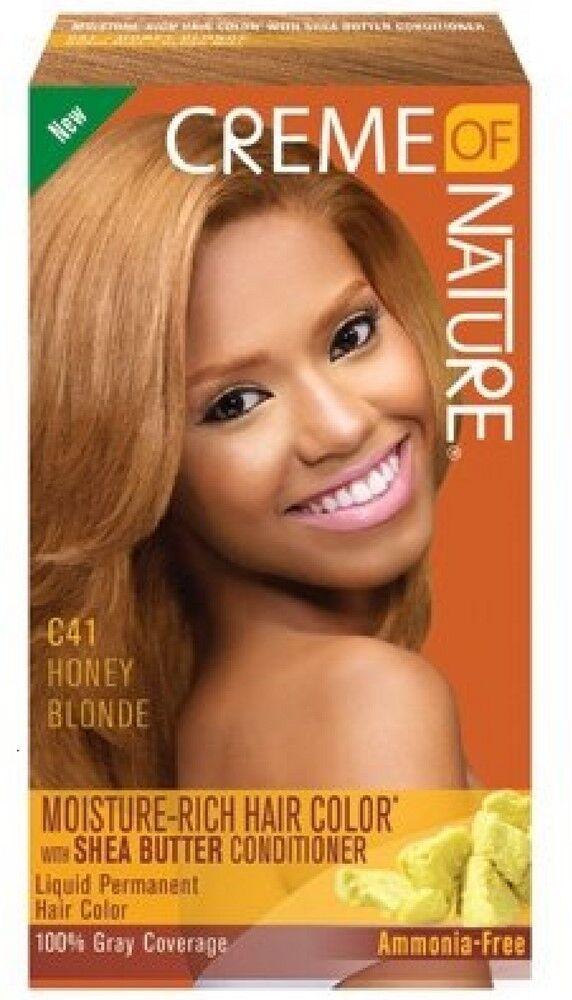 Creme Of Nature Moisture Rich Hair Color Kit Honey Blonde C41 1 Ea