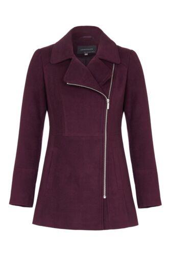 Womens Short Winter Zip Fastening Jacket Coat Anastasia