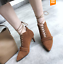 Womens-Strappy-Pointed-Toe-Slim-Heels-Suede-Lace-Up-Shoes-High-Top-Oxfords-Size