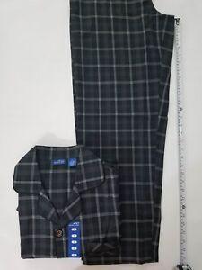Michael Morgan Collection Men s Plaid Sleepwear Pajama Set Cotton ... 975e042d2